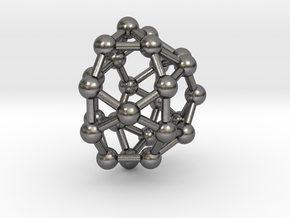 0811 J32 Pentagonal Orthocupolarotunda (a=1cm) #3 in Polished Nickel Steel