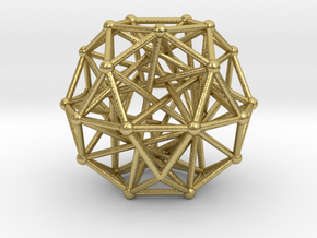Tensegrity • Icosidodecahedron in Natural Brass