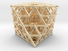 Octahedron fractal  in 14K Yellow Gold
