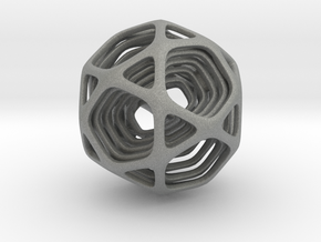 Icosidodecahedron Nested in Gray PA12