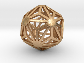 Triakis Icosahedron in Natural Bronze: Small