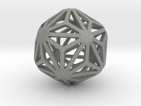 Triakis Icosahedron in Gray Professional Plastic: Small