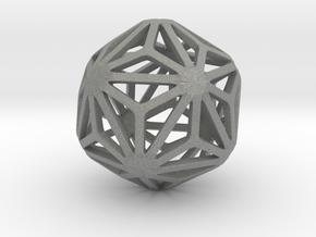 Triakis Icosahedron in Gray PA12: Small