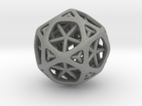 Nested dodeca & Icosa inside Icosidodecahedron in Gray PA12