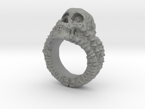 Skull Ring in Gray PA12: 6.5 / 52.75