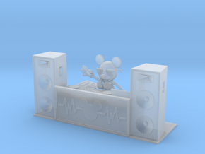 DJ Mickey (with turntables) in Smooth Fine Detail Plastic