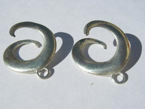 Seashell Earrings in Polished Silver