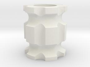 Bead2 in White Natural Versatile Plastic