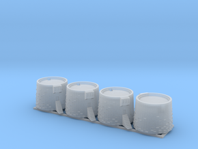 Martello Towers 2mm scale in Smooth Fine Detail Plastic