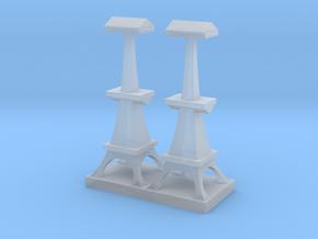 British Radar Tower in Smooth Fine Detail Plastic