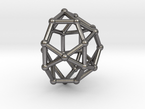 0813 J33 Pentagonal Gyrocupolarotunda (a=1cm) #2 in Polished Nickel Steel