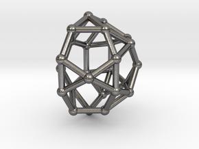 0813 J33 Pentagonal Gyrocupolarotunda (a=1cm) #2 in Polished Nickel Steel