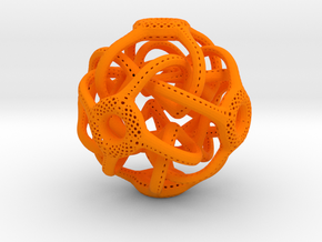 Cubic Octahedral Symmetry Perforation Type 1 in Orange Processed Versatile Plastic