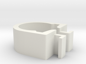 Shower soap dish (clip) in White Natural Versatile Plastic