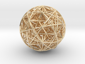 Hedron Star compound in 14k Gold Plated Brass