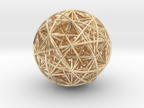 Hedron Star compound in 14K Yellow Gold