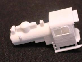PX48 Boiler and Cab: Scale HOe  in White Natural Versatile Plastic