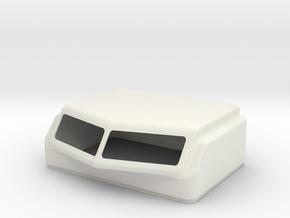 KW Aero 1 Style Cap For Stock Bunk in White Premium Versatile Plastic