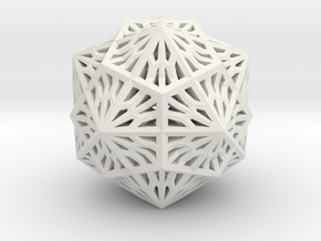 Icosahedron Dodecahedron Compound in White Natural Versatile Plastic