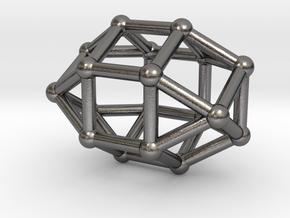 0819 J35 Elongated Triangular Orthobicupola #2 in Polished Nickel Steel