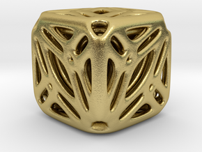 Nested Tessellated Cube in Natural Brass