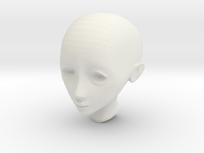 shelled no base bust in White Natural Versatile Plastic