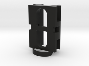 89Sabers OWK middle part in Black Natural Versatile Plastic