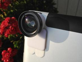iPro lens mount for iPad 3 - Stick on in White Strong & Flexible