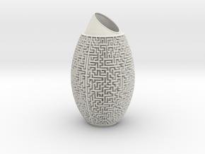 Maze Vase in Matte Full Color Sandstone
