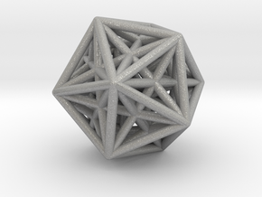 Icosahedron & Dodecahedron Struts Connected in Aluminum