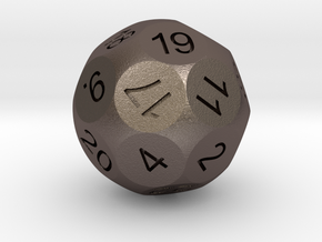 D24 Sphere Dice for Impact! Miniatures in Polished Bronzed-Silver Steel