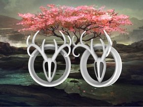 2 Inch Antler Tunnels in White Processed Versatile Plastic