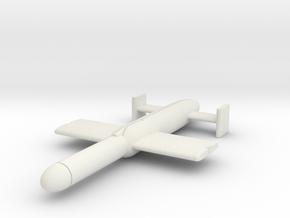 """(1:144) L.11 """"Schneewittchen"""" gliding torpedo  in White Natural Versatile Plastic"""