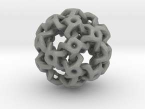 Nested Rhombic Triacontahedron  in Gray Professional Plastic