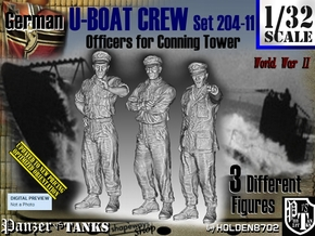 1/32 German U-Boot Crew Set204-11 in White Natural Versatile Plastic