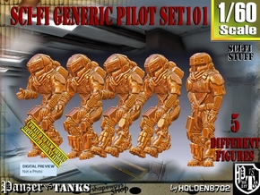 1/60 Sci-Fi Generic Pilot Set101 in Smooth Fine Detail Plastic