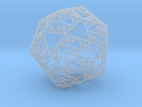 Sierpinski Icosahedron in Smooth Fine Detail Plastic