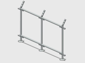 10' Straight Fence Frame, 2-Bay (2 ea.) in White Natural Versatile Plastic: 1:87 - HO