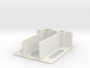 Flat Wing Nano Talon - Left Side Plate in White Natural Versatile Plastic