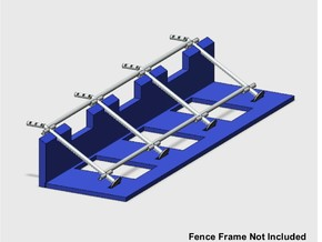10' Chain-link Fence Frame Holding Jig in White Natural Versatile Plastic: 1:87 - HO
