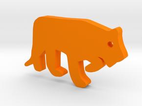 Tiger Silhouette Keychain in Orange Processed Versatile Plastic