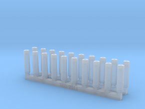 Bolt Rifle Suppressors Slots v1 x20 in Smoothest Fine Detail Plastic