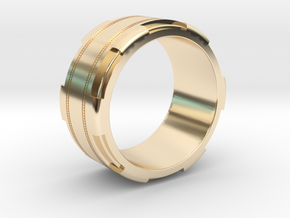 Men's Band Ring #1 in 14k Gold Plated Brass
