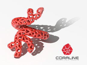 Red Coral Ring in Red Processed Versatile Plastic