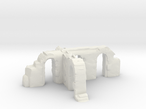 Jungle Ruin - Intersect in White Natural Versatile Plastic