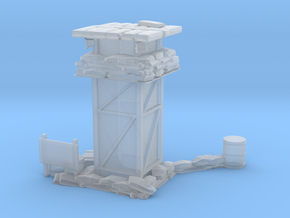 Watchtower with sign post in Smooth Fine Detail Plastic