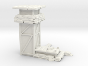 Watchtower with lower observation port in White Natural Versatile Plastic