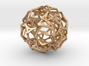 Soccer ball Cage work in Natural Bronze