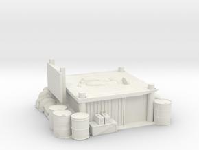 Firebase Rear Artillery in White Natural Versatile Plastic