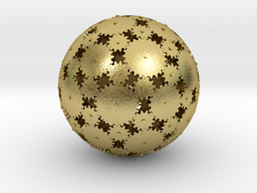 Gearsphere Colored in Natural Brass